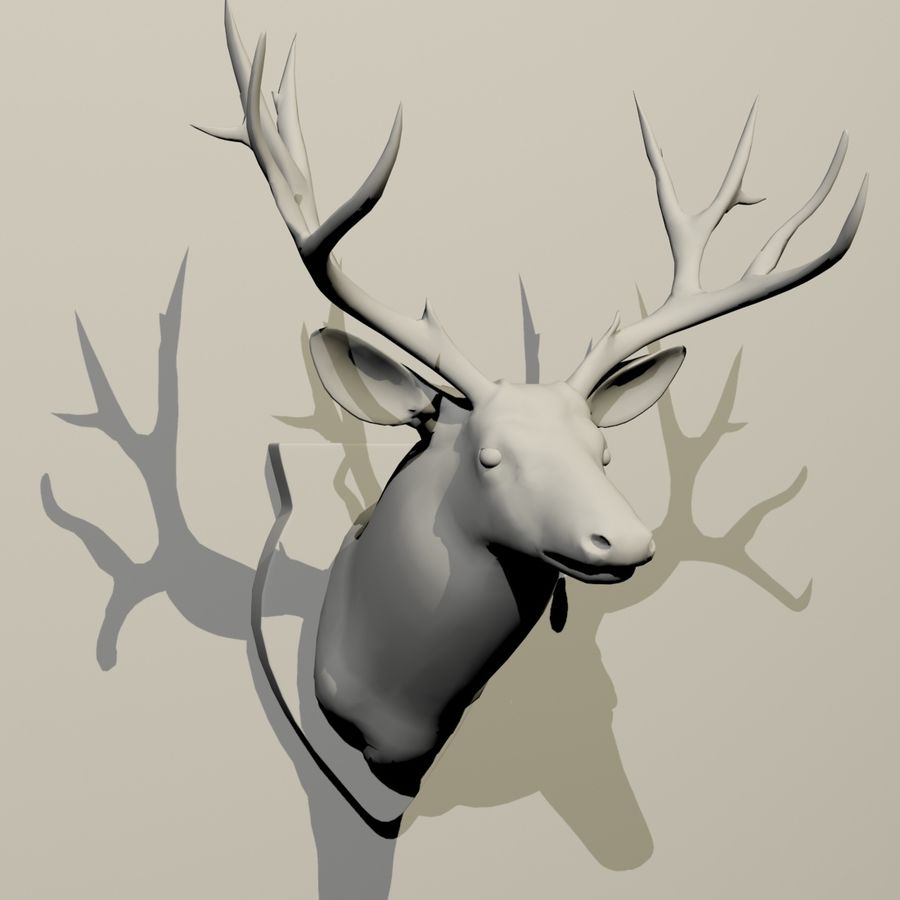 Taxidermie cerf royalty-free 3d model - Preview no. 8