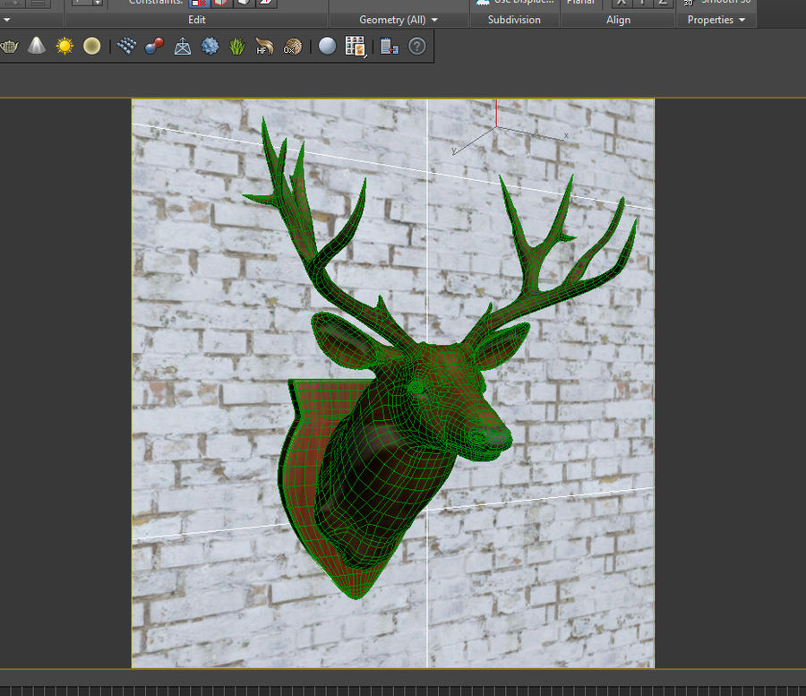 Taxidermie cerf royalty-free 3d model - Preview no. 11