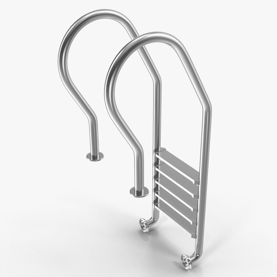 Steel Swimming Pool Ladder royalty-free 3d model - Preview no. 1