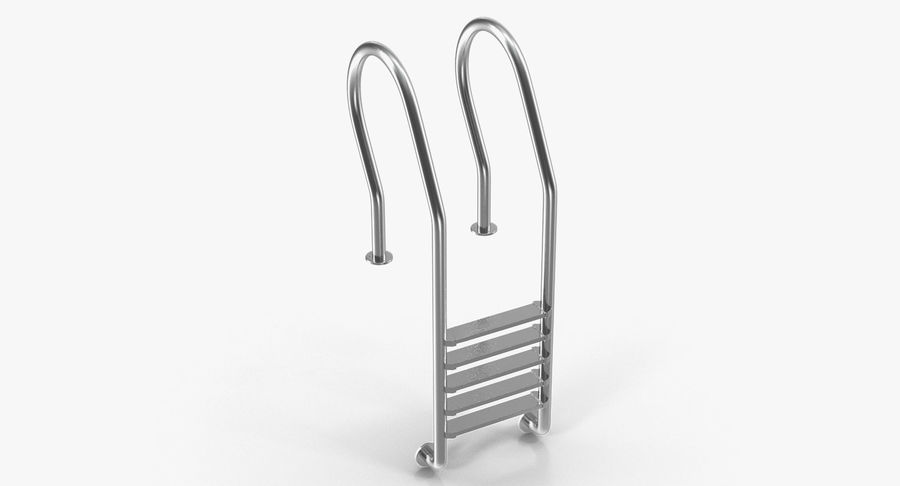 Steel Swimming Pool Ladder royalty-free 3d model - Preview no. 5