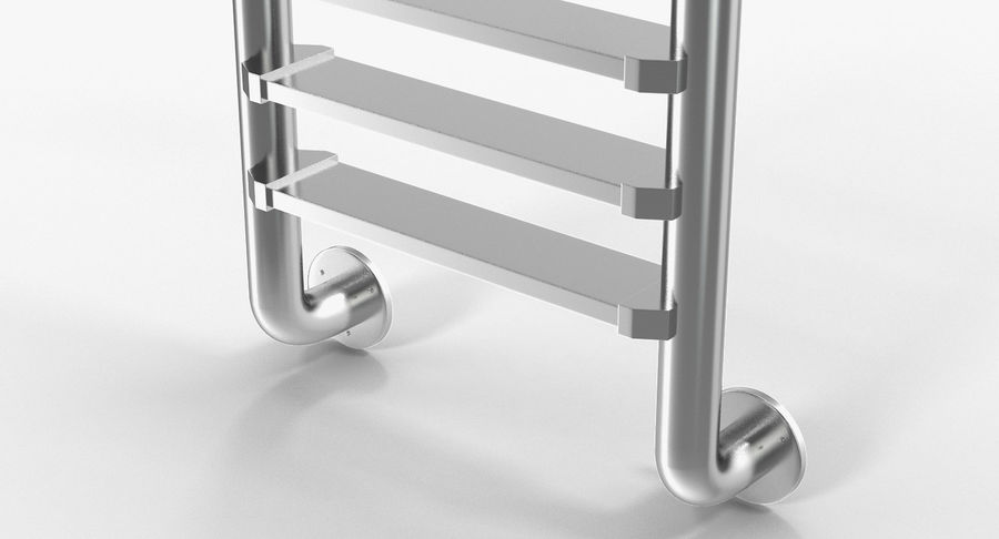 Steel Swimming Pool Ladder royalty-free 3d model - Preview no. 7