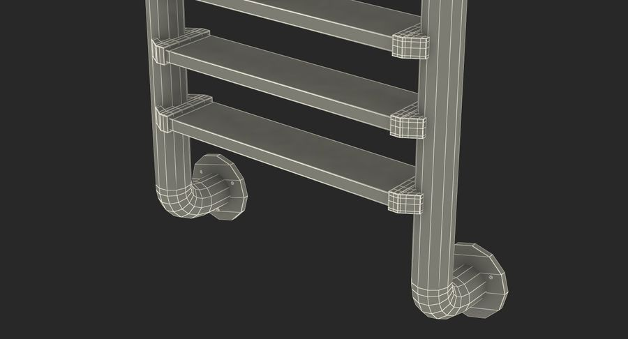 Steel Swimming Pool Ladder royalty-free 3d model - Preview no. 14