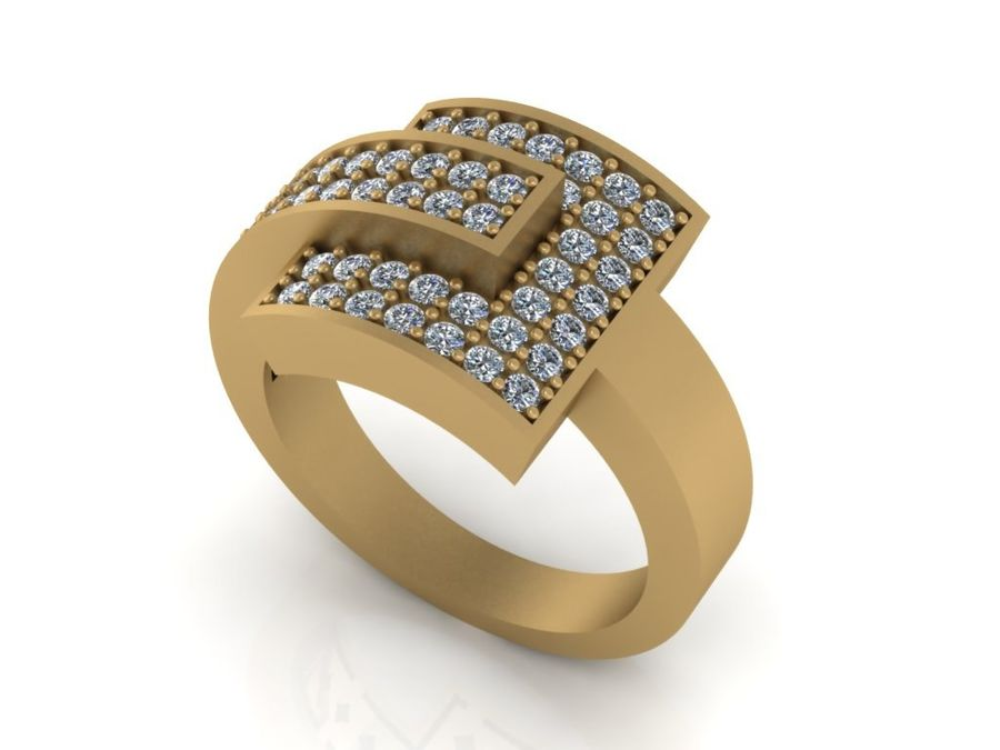 Jewelry ring royalty-free 3d model - Preview no. 2