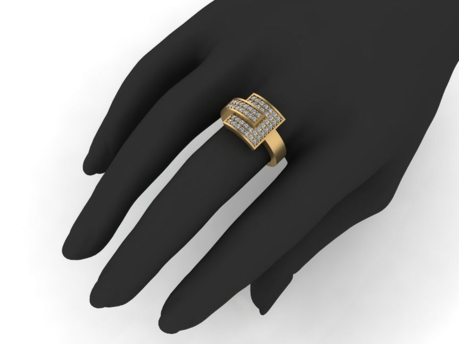 Jewelry ring royalty-free 3d model - Preview no. 4