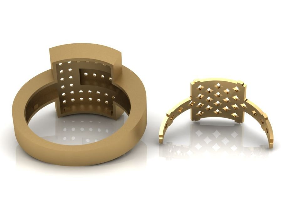 Jewelry ring royalty-free 3d model - Preview no. 6