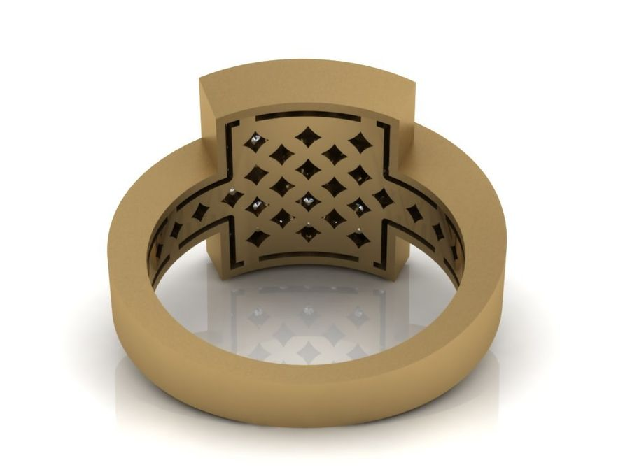 Jewelry ring royalty-free 3d model - Preview no. 5