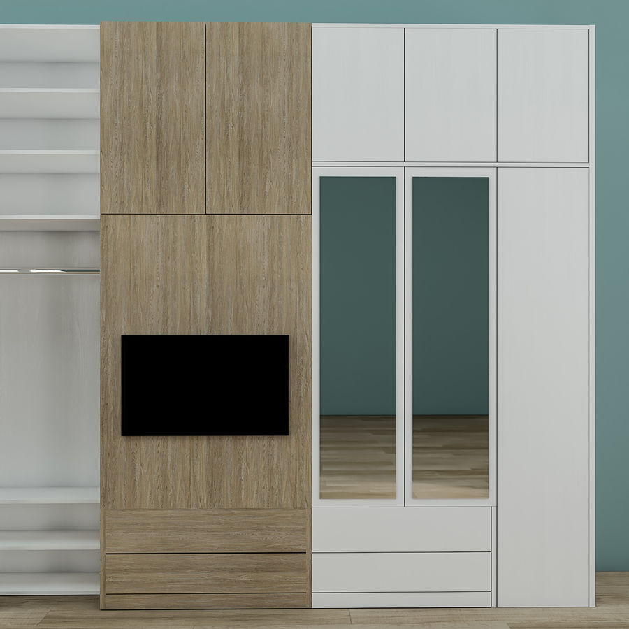 Muebles de dormitorio royalty-free modelo 3d - Preview no. 3