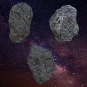 asteroids pack 3d model