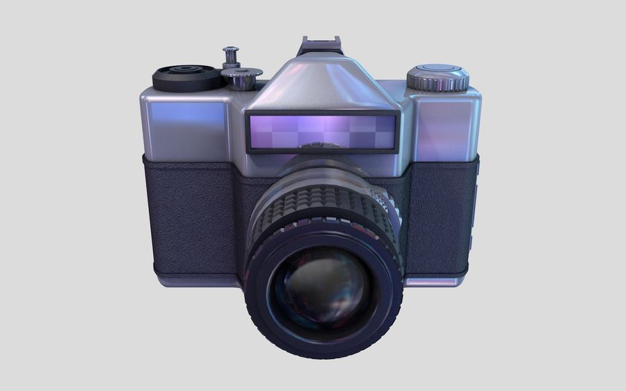 macchina fotografica retrò royalty-free 3d model - Preview no. 3