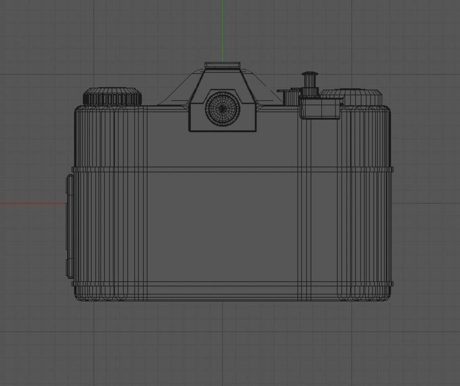 macchina fotografica retrò royalty-free 3d model - Preview no. 9