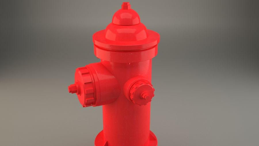 fire hydrant royalty-free 3d model - Preview no. 4