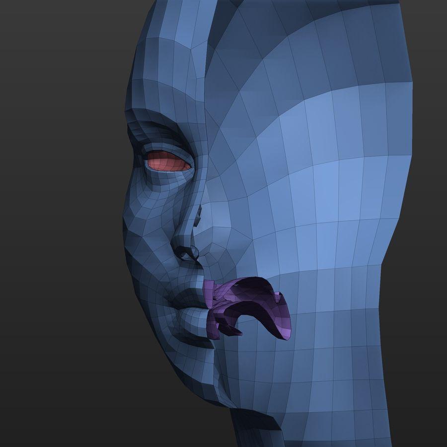 Basmask kvinnlig kropp royalty-free 3d model - Preview no. 8