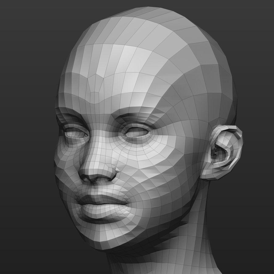 Base mesh female body royalty-free 3d model - Preview no. 7