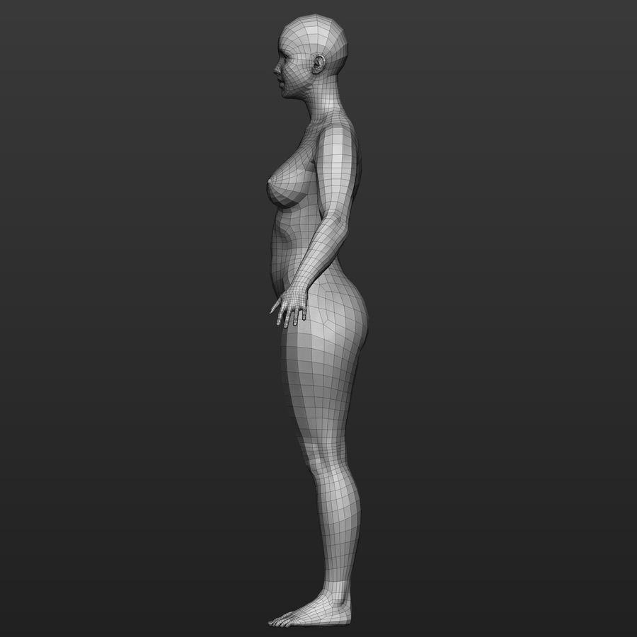Base mesh female body royalty-free 3d model - Preview no. 3