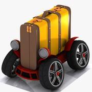 Toon Baggage Car 3d model