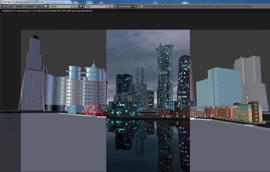 Futuro de la ciudad de Anzio royalty-free modelo 3d - Preview no. 4