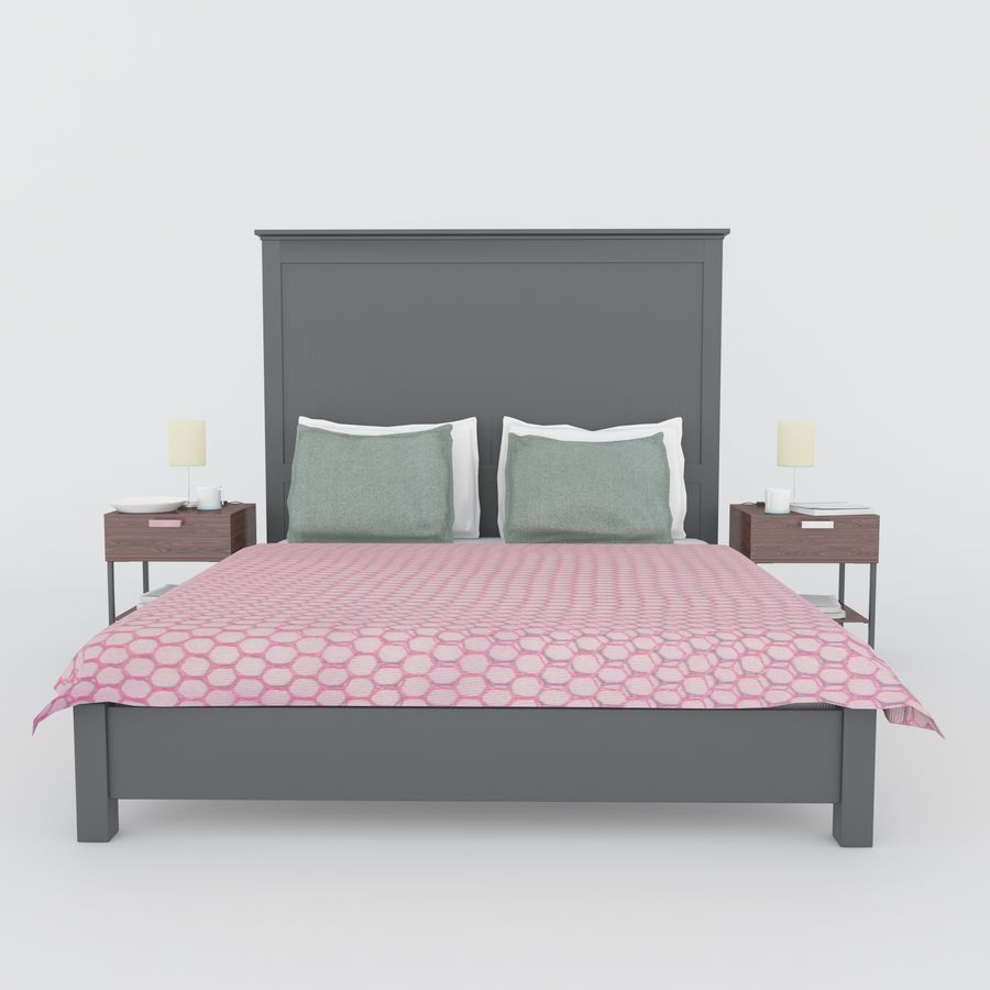 Ikea bed royalty-free 3d model - Preview no. 1