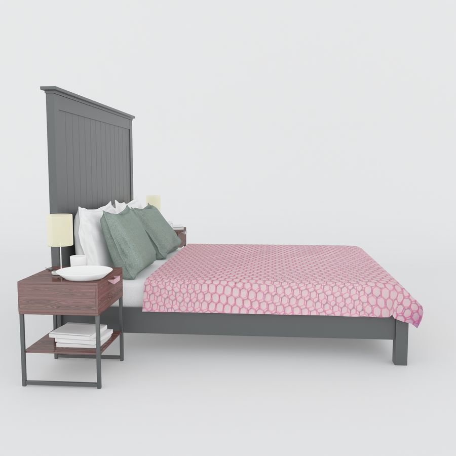 Letto Ikea royalty-free 3d model - Preview no. 4