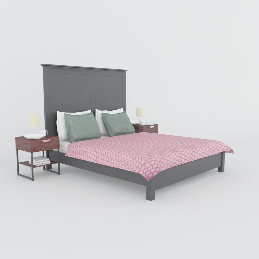 Letto Ikea royalty-free 3d model - Preview no. 3