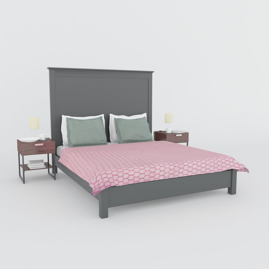 Ikea bed royalty-free 3d model - Preview no. 2
