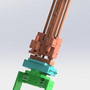 Multi-function cylinder mechanism 3d model