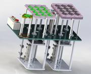 O levantamento do mecanismo da plataforma de empilhamento 3d model