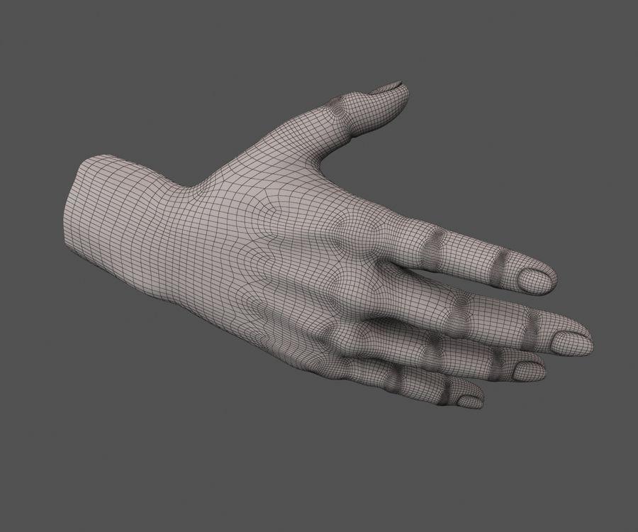 Ручной человек royalty-free 3d model - Preview no. 10