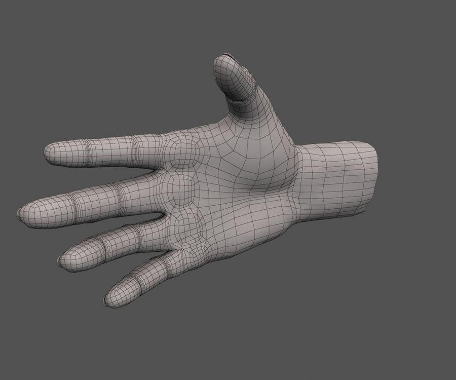 Ручной человек royalty-free 3d model - Preview no. 9