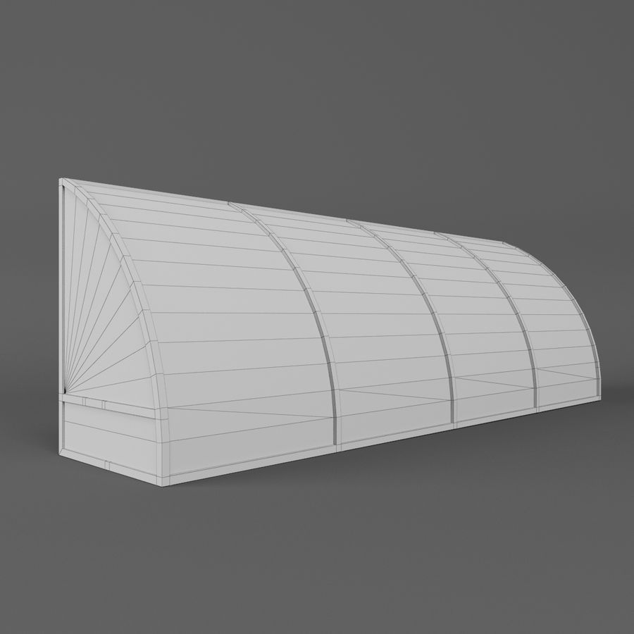 Soccer Reserve Bench royalty-free 3d model - Preview no. 11
