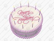 Happy birthday cake 3d model