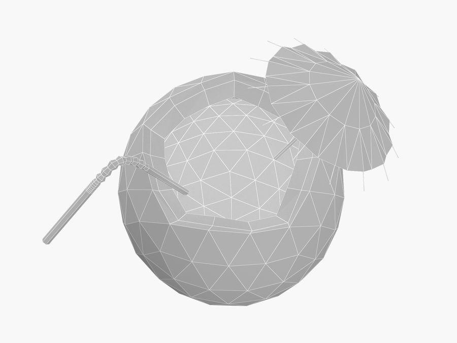 Kokosowy kreskówka koktajl royalty-free 3d model - Preview no. 4