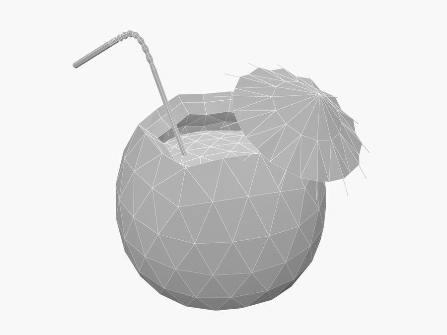 Kokosowy kreskówka koktajl royalty-free 3d model - Preview no. 2