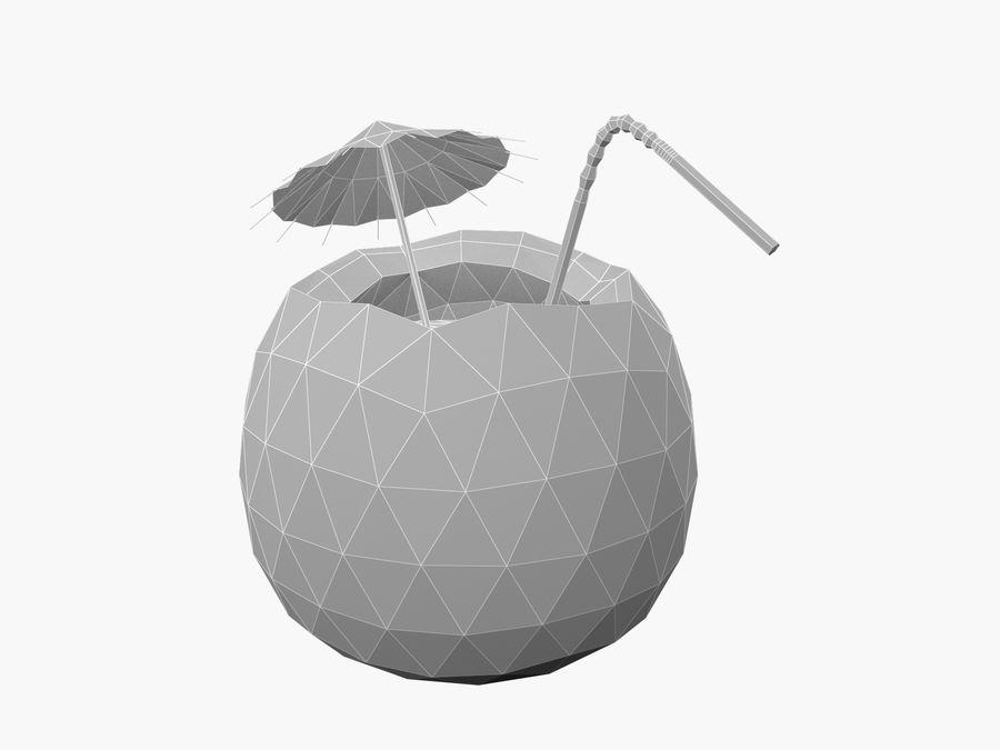 Kokosowy kreskówka koktajl royalty-free 3d model - Preview no. 8