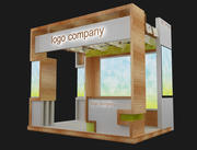 Booth Exhibition Stand a1 3d model