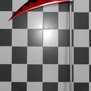 Soul Eater Scythe w/ Background 3d model