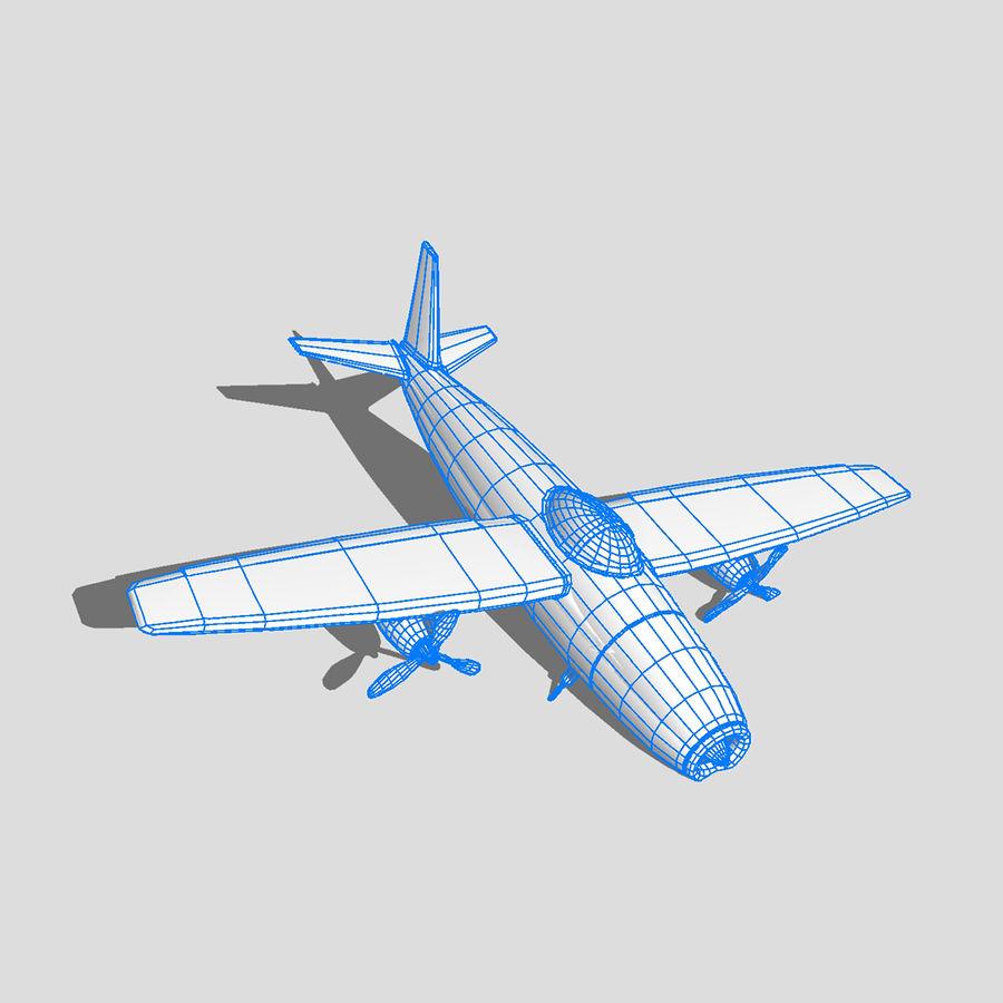 Avião a jato royalty-free 3d model - Preview no. 5