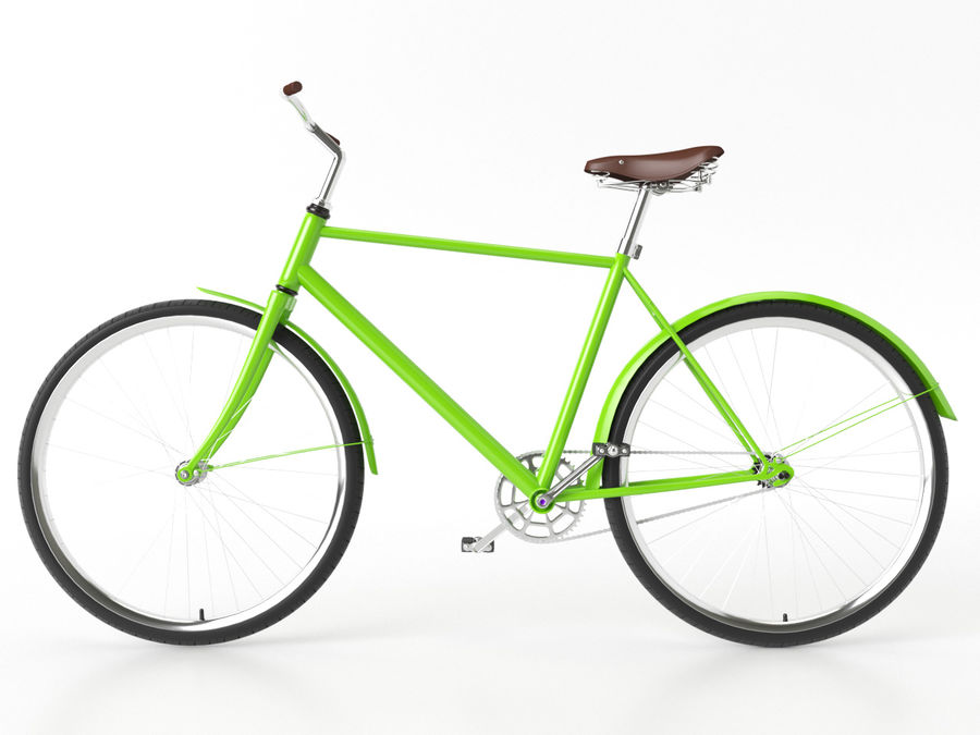 Classical bike royalty-free 3d model - Preview no. 2
