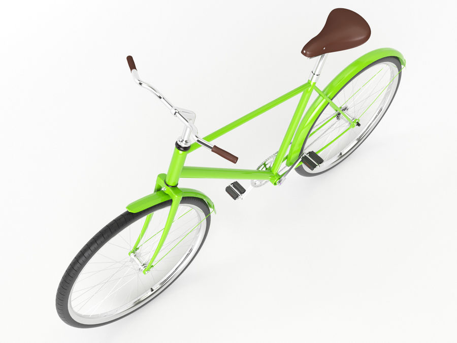 Classical bike royalty-free 3d model - Preview no. 4