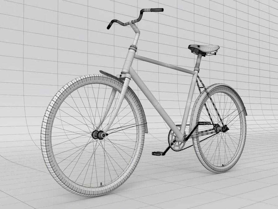 Classical bike royalty-free 3d model - Preview no. 7