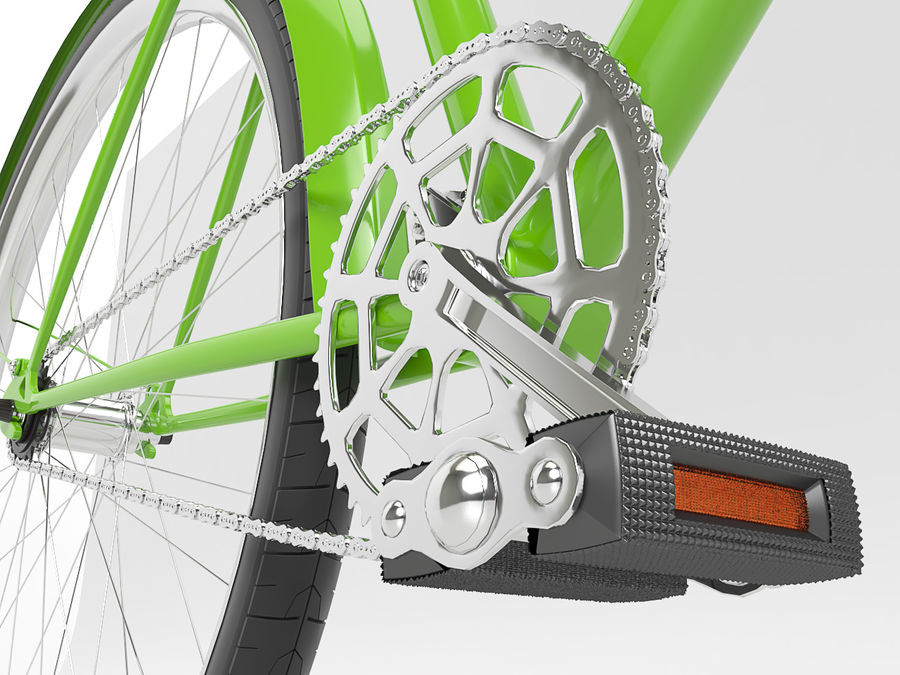 Classical bike royalty-free 3d model - Preview no. 5