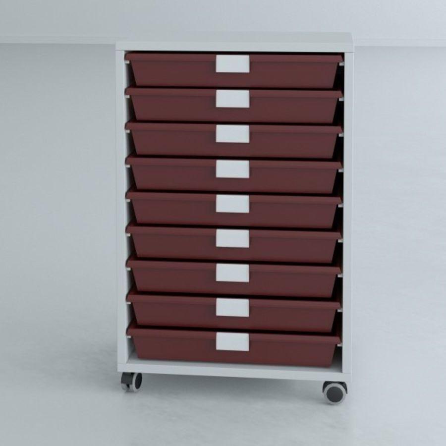 Narrow Lab Cart royalty-free 3d model - Preview no. 6