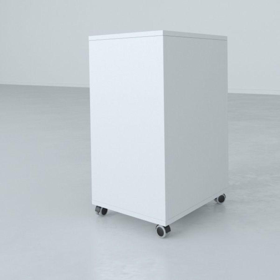 Narrow Lab Cart royalty-free 3d model - Preview no. 4