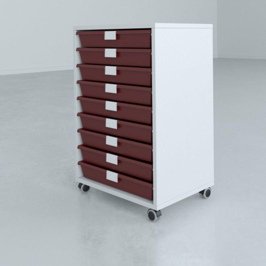 Narrow Lab Cart royalty-free 3d model - Preview no. 5