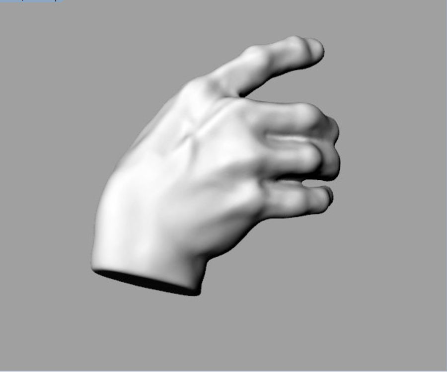 Hand Grasping royalty-free 3d model - Preview no. 1