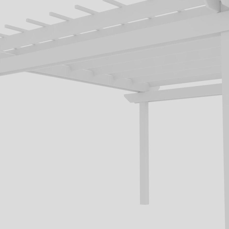 Pergola royalty-free 3d model - Preview no. 4