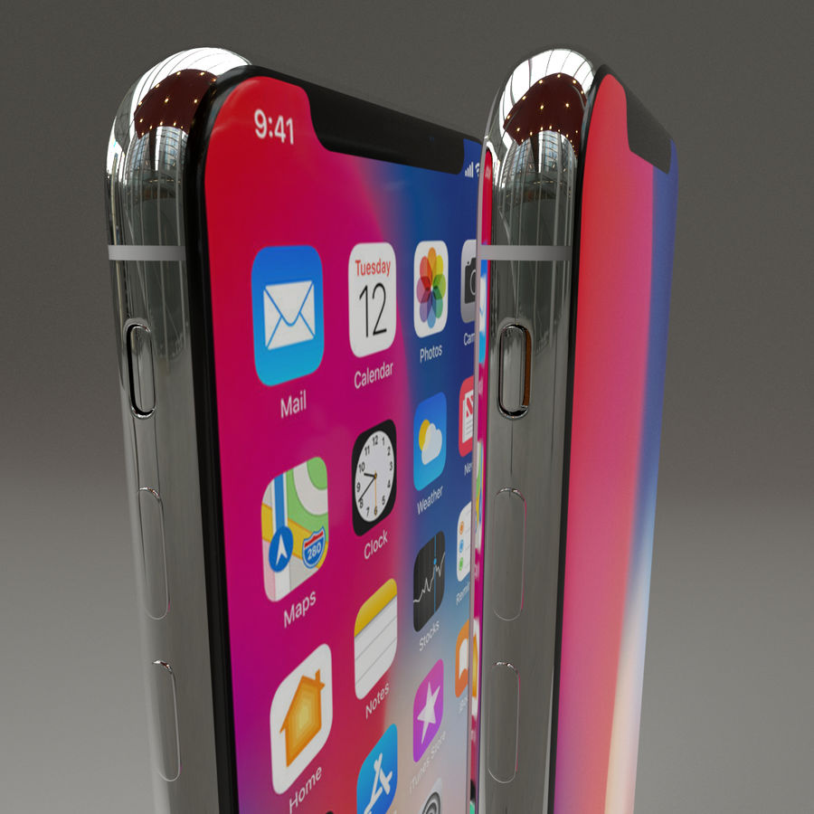 Iphone X royalty-free 3d model - Preview no. 6