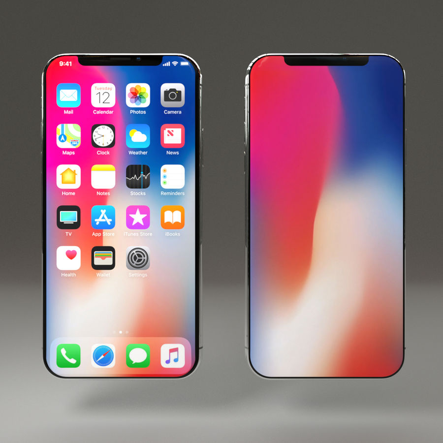 Iphone X royalty-free 3d model - Preview no. 2