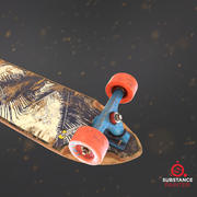 Longboard Deck für Spiel 3d model