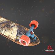 Longboard Deck for game 3d model
