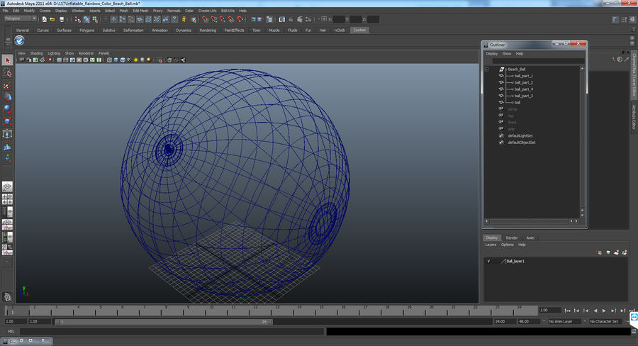 Beach Ball royalty-free 3d model - Preview no. 11